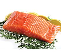 Seafood Service Counter Fish Salmon Atlantic Whole Fillet Color Added Fresh - 3.5 LB