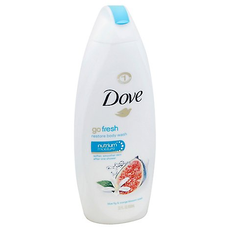 Dove Go Fresh Body Wash Restore Blue Fig & Orange Blossom Scent - 22 Fl. Oz.