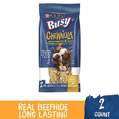 Busy Dog Treats Chewnola Wholesome Oats & Brown Rice 2 Count - 4 Oz