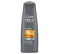 Dove Men+Care Shampoo + Conditioner 2 In 1 Thick & Strong - 12 Fl. Oz.