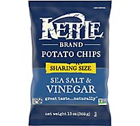 Kettle Potato Chips Sea Salt & Vinegar Party Size - 13 Oz