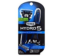 Schick Hydro 5 Razors Disposables 5 Blades - 3 Count