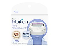 Schick Intuition Cartridges Coconut Milk & Almond Oil - 3-0.35 Oz