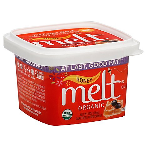 Melt Buttery Spread Organic Honey - 13 Oz
