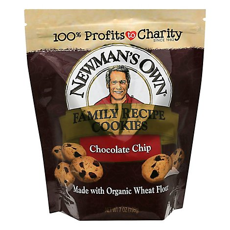 Newmans Own Family Recipe Cookies Chocolate Chip - 7 Oz