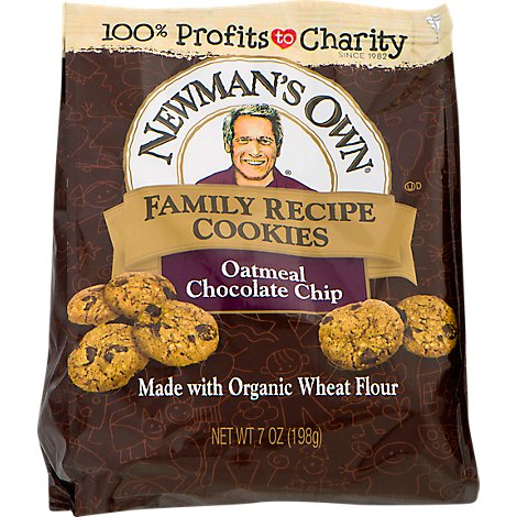 Newmans Own Organics The Second Generation Cookies Family Recipe Oatmeal Chocolate Chip - 7 Oz