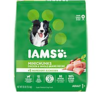 IAMS Proactive Health Dog Food Dry Adult Minichunks Small Kibble With Real Chicken - 30 Lb