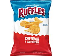 Ruffles Potato Chips Cheddar & Sour Cream - 8.5 Oz