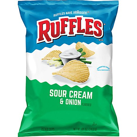 Ruffles Potato Chips Sour Cream & Onion - 8.5 Oz