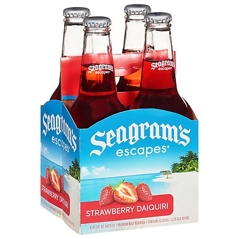 Seagrams Strawberry Daiquiri Wine Cooler - 4-11.2 Fl. Oz.
