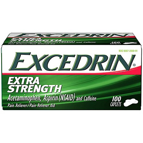Excedrin Pain Reliever and Aid Extra Strength Caplets - 100 Count