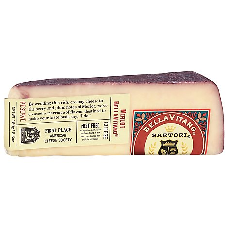 Sartori Cheese BellaVitano Merlot - 5.3 Oz