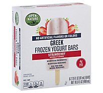 Open Nature Bars Greek Frozen Yogurt Strawberry - 6-2.75 Fl. Oz.