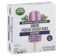 Open Nature Bars Greek Frozen Yogurt Blueberry - 6-2.75 Fl. Oz.