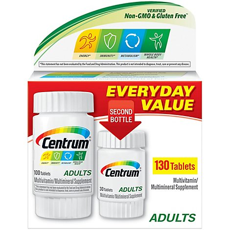 Centrum Multivitamin/Multimineral Tablets Adults - 130 Count