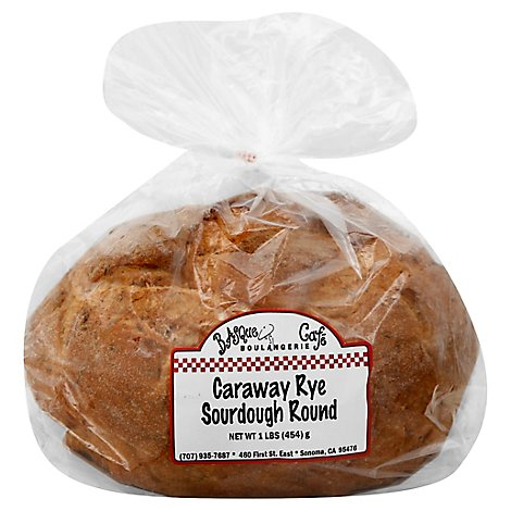 Basque Boulangerie Cafe Bread Caraway Rye Round - 16 Oz