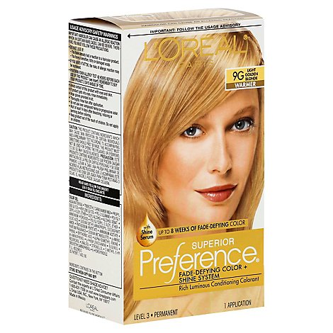 LOreal Superior Preference Hair Color Light Golden Blonde 9G - Each