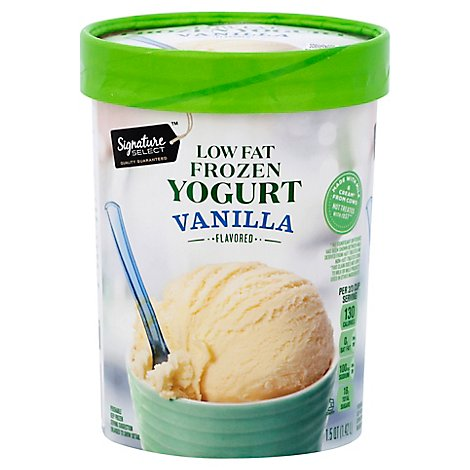 Signature SELECT Frozen Yogurt Fat Free Vanilla - 1.5 Quart