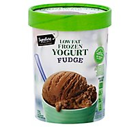 Signature SELECT Frozen Yogurt Low Fat Fudge - 1.5 Quart