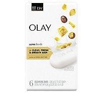 Olay Ultra Moisture Beauty Bar With Shea Butter - 6 - 4 Oz.