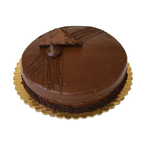 Bakery Cake 10 Inch 1 Layer Fudge - Each
