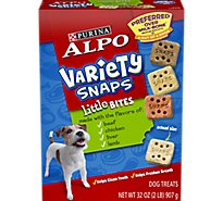 ALPO Dog Treats Snaps Variety Little Bites Box - 32 Oz