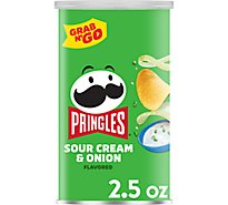 Pringles Potato Crisps Chips Sour Cream & Onion Flavored Single Serve Grab N Go - 2.5 Oz