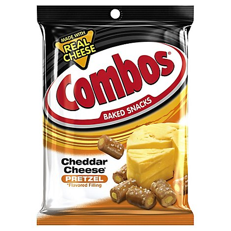 Combos Cheddar Cheese Pretzel Baked Snacks Bag 6.3 Oz