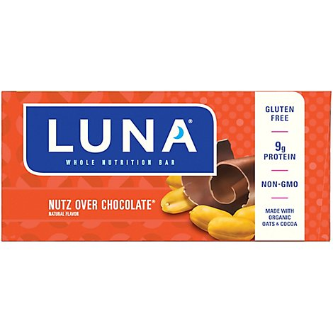Luna Nutrition Bar Whole Nutz Over Chocolate - 15-1.69 Oz