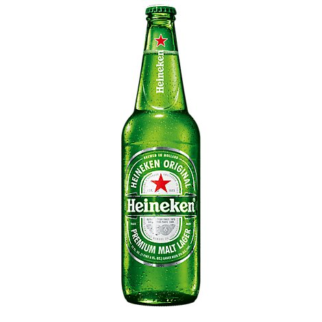 Heineken Premium Beer Lager Bottle - 22 Fl. Oz.