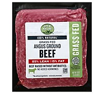 Open Nature Beef Ground Beef Grass Fed Angus 85% Lean 15% Fat - 16 Oz