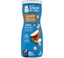 Gerber Graduates Puffs Cereal Snack Apple Cinnamon - 1.48 Oz