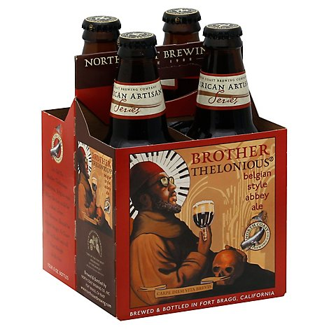 North Coast Brother Thelonious Ale In Bottles - 4-12 Fl. Oz.