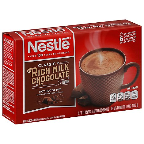 Nestle Hot Cocoa Mix Rich Milk Chocolate Flavor 6 Count - 4.27 Oz