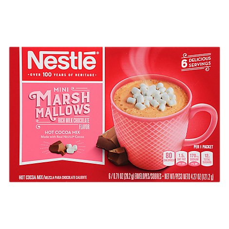 Nestle Cocoa Mix Hot Rich Milk Chocolate Flavor Mini Marshmallows - 6-0.71 Oz