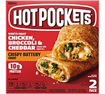 Hot Pockets Sandwiches Chicken Broccoli & Cheddar Crispy Buttery Seasoned Crust - 2-4.5 Oz
