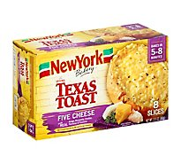 New York Bakery Texas Toast Five Cheese 8 Count - 13.5 Oz