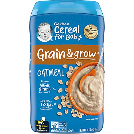 Gerber Cereal Oatmeal - 16 Oz