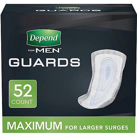 Depend Guards for Men Maximum Absorbency - 52 Count