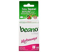 Beano Meltaways Food Enzymes Strawberry - 15 Count