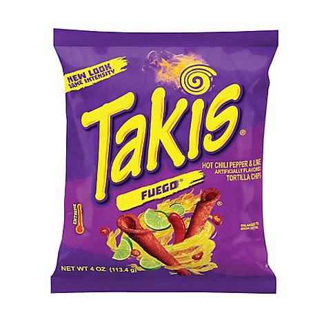 Barcel Takis Tortilla Chips Fuego Hot Chili Pepper & Lime - 4 Oz