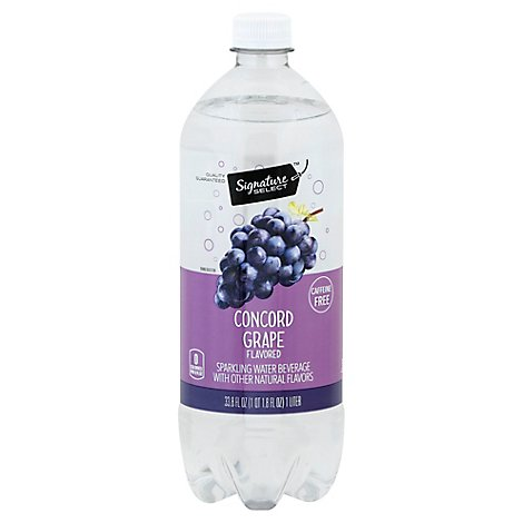 Signature SELECT Water Sparkling Concord Grape - 1 Liter