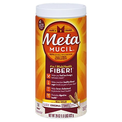 Metamucil Fiber Supplement 4 in 1 MultiHealth Powder Original - 29 Oz