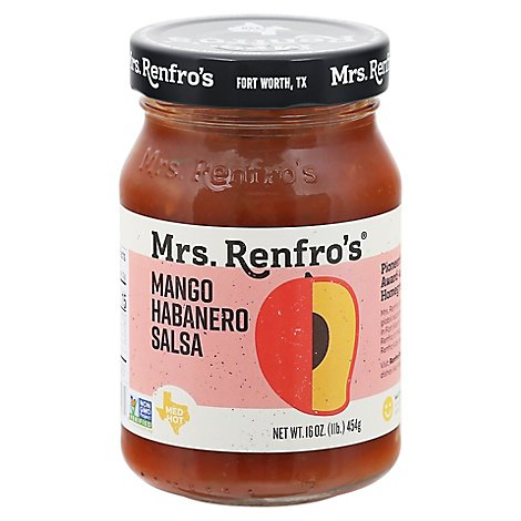 Mrs. Renfros Gourmet Salsa Medium Hot Mango Habanero Jar - 16 Oz