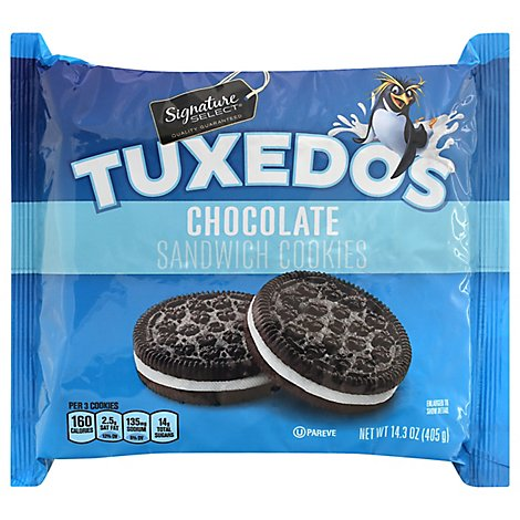 Signature SELECT Cookies Sandwich Tuxedos Chocolate - 14.3 Oz