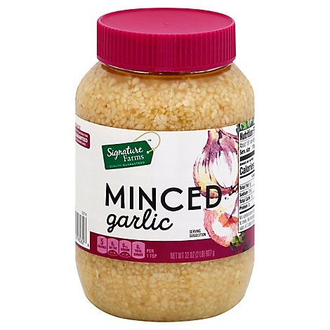 Signature Farms Minced Garlic - 32 Oz