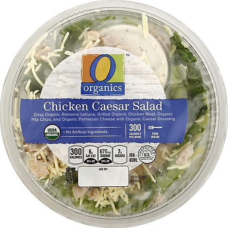 O Organics Organic Bowl Chicken Caesar Bowl - 6.25 Oz
