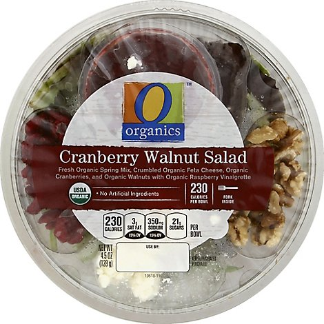 O Organics Organic Bowl Cranberry Walnut Bowl - 4.5 Oz