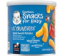 Gerber Graduates Lil Crunchies Corn Snack Baked Whole Grain Apple & Sweet Potato - 1.48 Oz