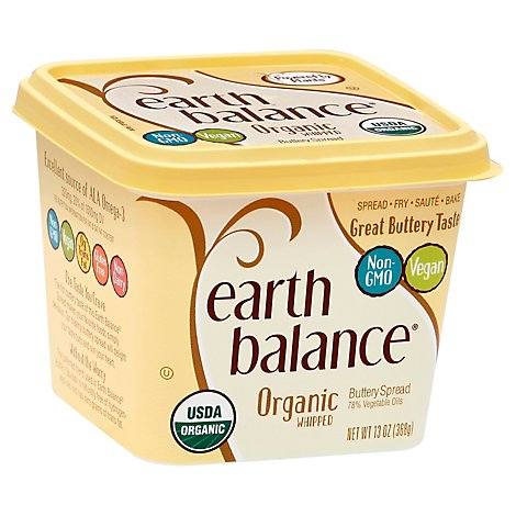 Earth Balance Buttery Spread 78% Vegetable Oil Organic Whipped - 13 Oz